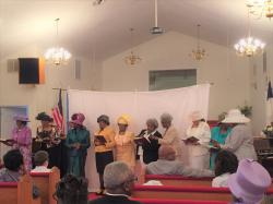 Ministry Ladies sing a song