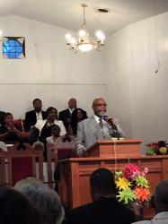 Pastor James E. Potts at   Community Sunrise 2017